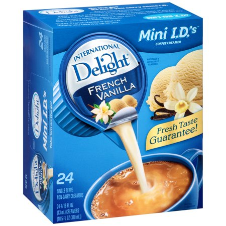 (6 Pack) International Delight French Vanilla Creamers, 24 Ct (Coffee Cream)