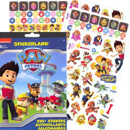 Paw Patrol Reward Stickers 295 Stickers Sticker Pad With Over 295 Stickers Featuring Favorite Paw Patrol Characters By Stickerland