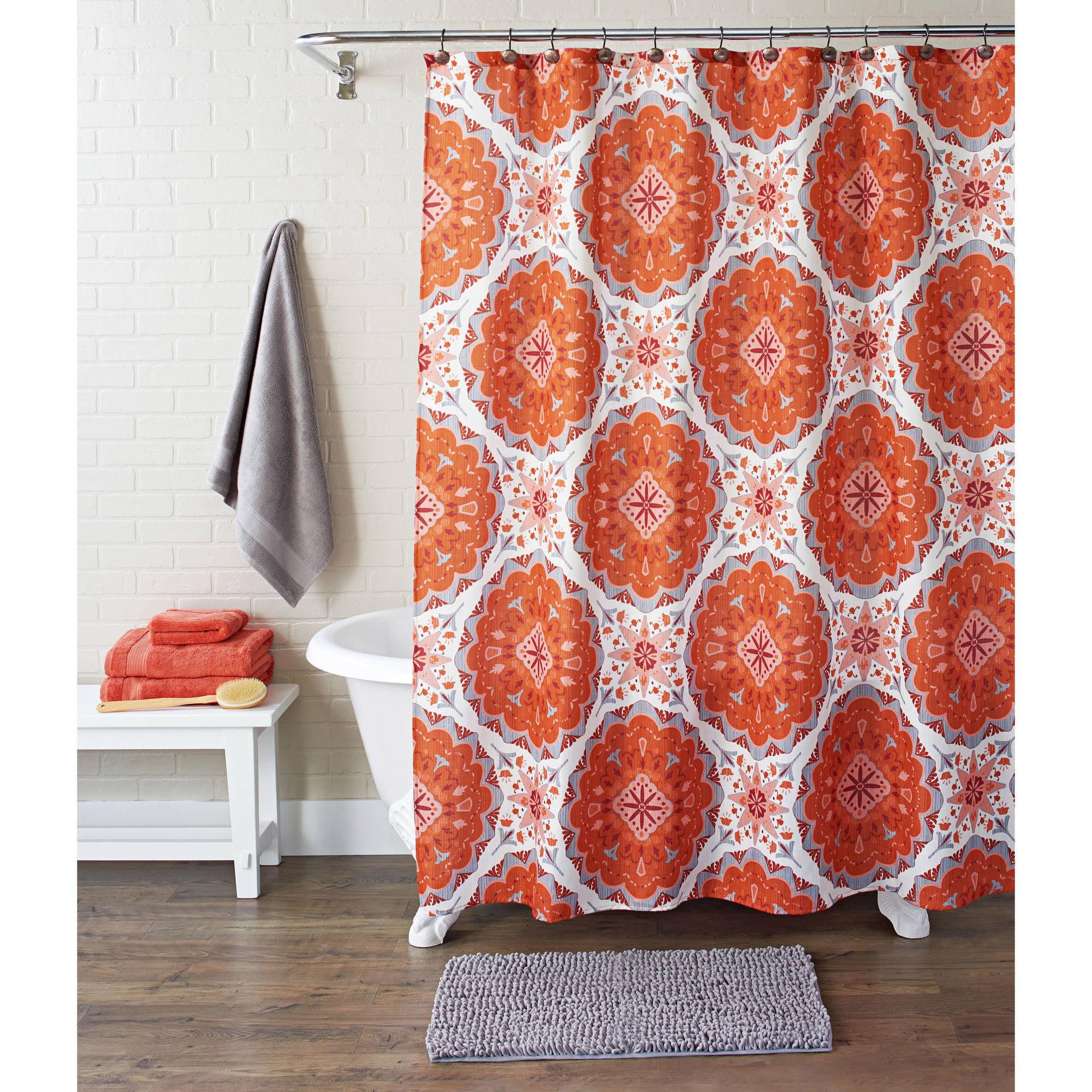 Better Homes and Gardens 13 Piece Shower Set  Nomadic Suzani. Better Homes and Gardens Shower Curtains   Walmart com