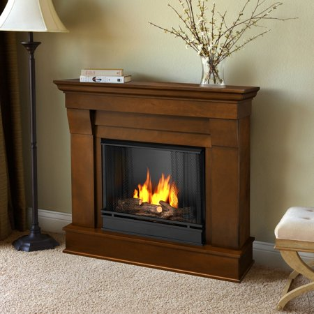 Real Flame Chateau Ventless Gel Fireplace - Espresso