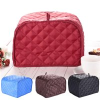 """Toaster Cover-Uarter Four Slice Toaster Cover Bread Toaster Cover Bread Toaster Protector, Fits Most Standard 4 Slice Toasters, Machine Washable, Red 12""""*11""""*8.5"""""""