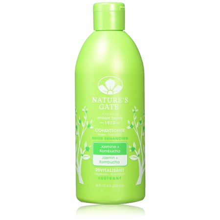 Shine Solution - Nature's Gate Shine Enhancing Conditioner, Jasmine & Kombucha, 18 fl. oz., Jasmine strengthens hair roots; a good solution against dry and itchy scalp. By Natures Gate