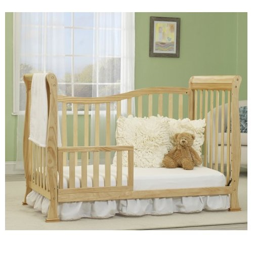 Baby Time International, Inc. Big Oshi Jessica 5-in-1 Convertible Crib with Mattress