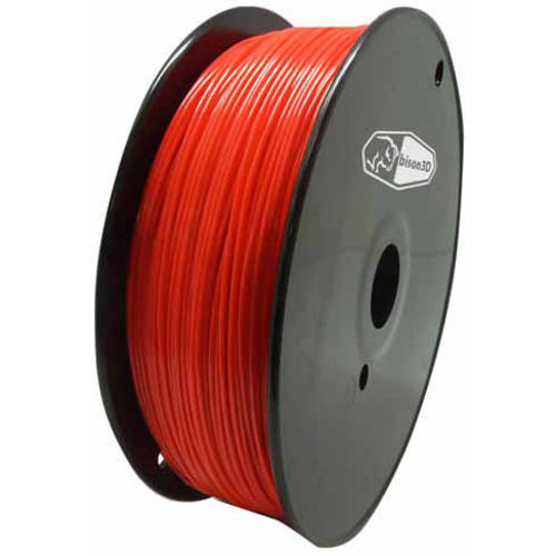 Bison3D Universal Filament for 3D Printing, 1.75mm, 1kg/Roll, Red (PLA)