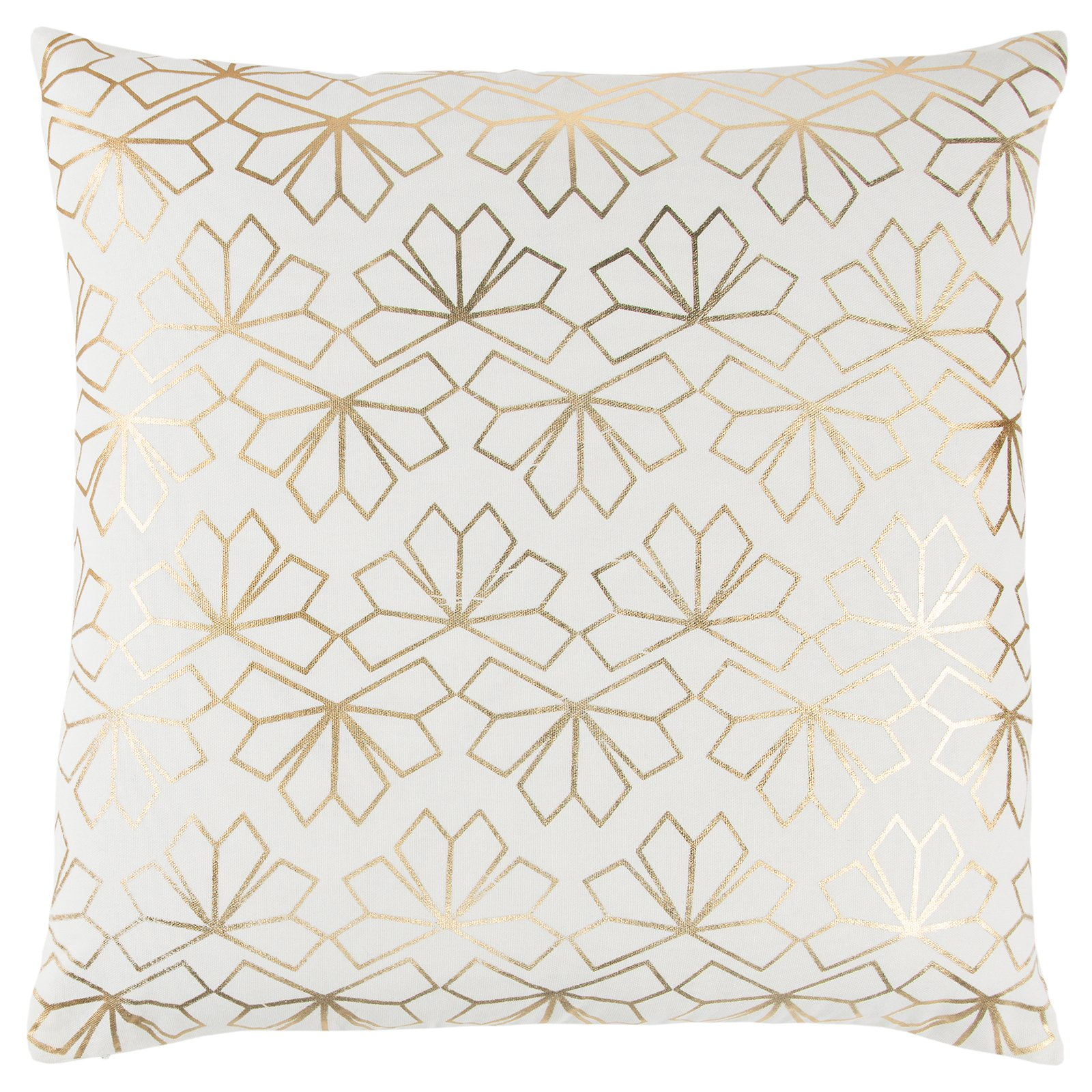 Rizzy Home Geometric Metallic Flower Decorative Pillow
