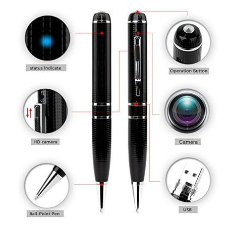 LTMADE Spy Camera 1296P 32G Hidden Camera Pen OV4689 Full Real 2K Low Illumination 1080P Pen Camera Multfunction Pen DVR Cam - image 3 of 4