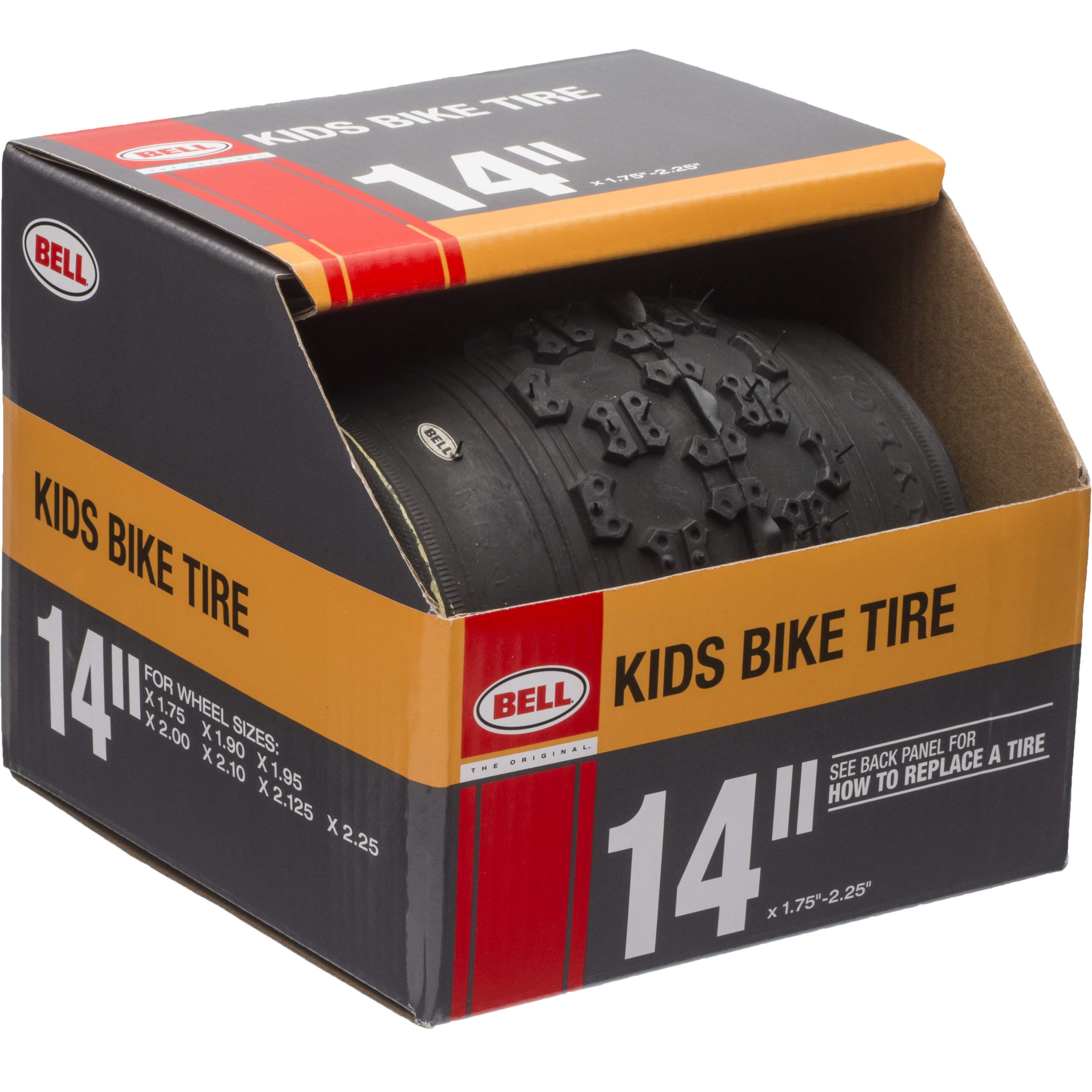 "Bell Sports Gate BMX Tire, 14"", Black"