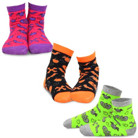 TeeHee Halloween Kids Cotton Fun Crew Socks 3-Pair Pack (Allover Scary - Dorothy Halloween Socks