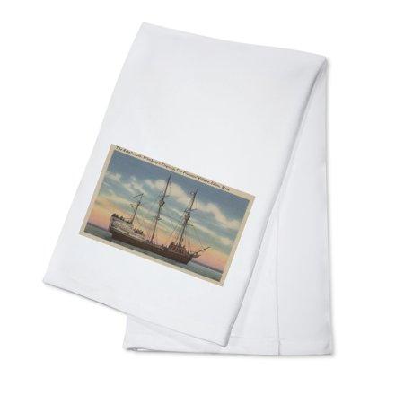 Salem, MA - View of Capt. Winthrop's Arbella (100% Cotton Kitchen Towel)](Halloween In Salem Ma)