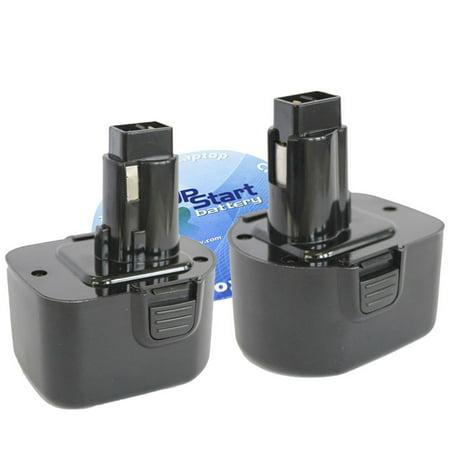 2-Pack DeWalt DW9072 Battery - Replacement DeWalt 12V Battery (1300mAh,