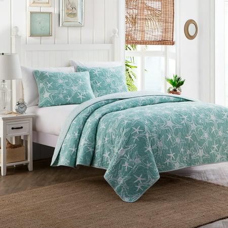 Starfish 3pc Cotton Quilt Set ()