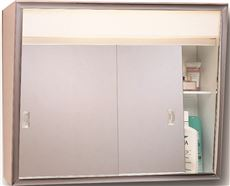 American Pride 700L Series Sliding Medicine Cabinet, 2 Light Without Outlet,  24 In.