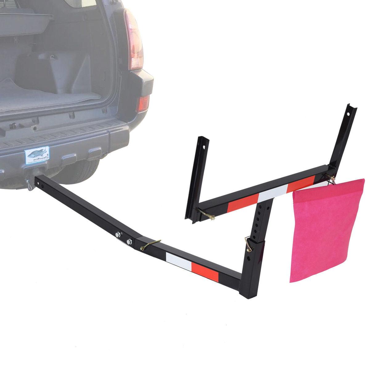 pick up truck bed hitch extender adjustable steel extension rack loads flag