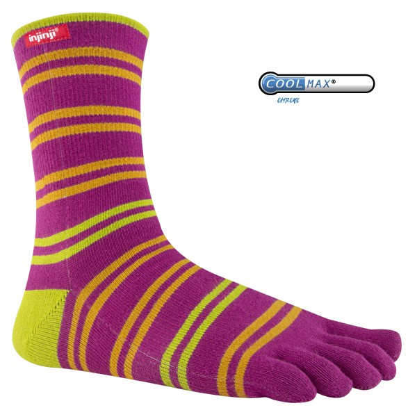 Injinji Sport Lifestyle Original Weight Crew CoolMax Toe Socks
