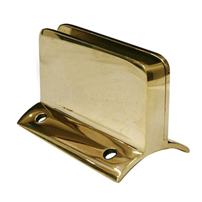Lavi L00 812 112Sr . 25 Glass Clip With Stop Rh For 1-. 50 Tube - Polished Brass