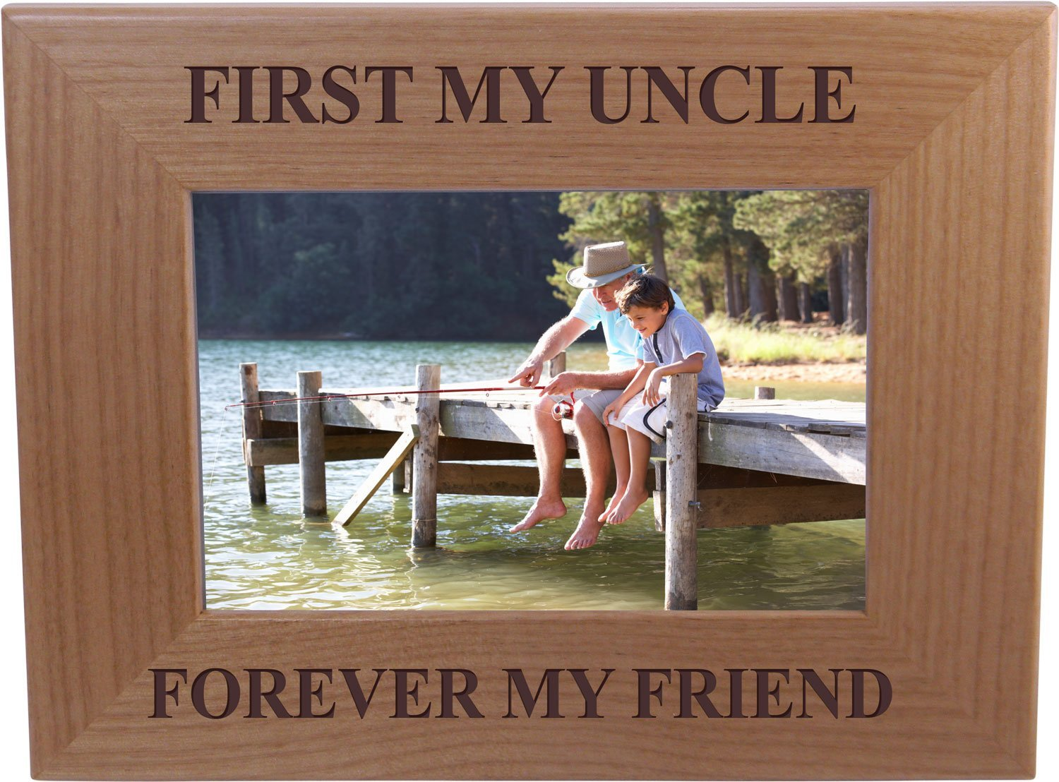 Love Between Uncle /& Niece Lasts Forever Engraved Natural Wood Frame