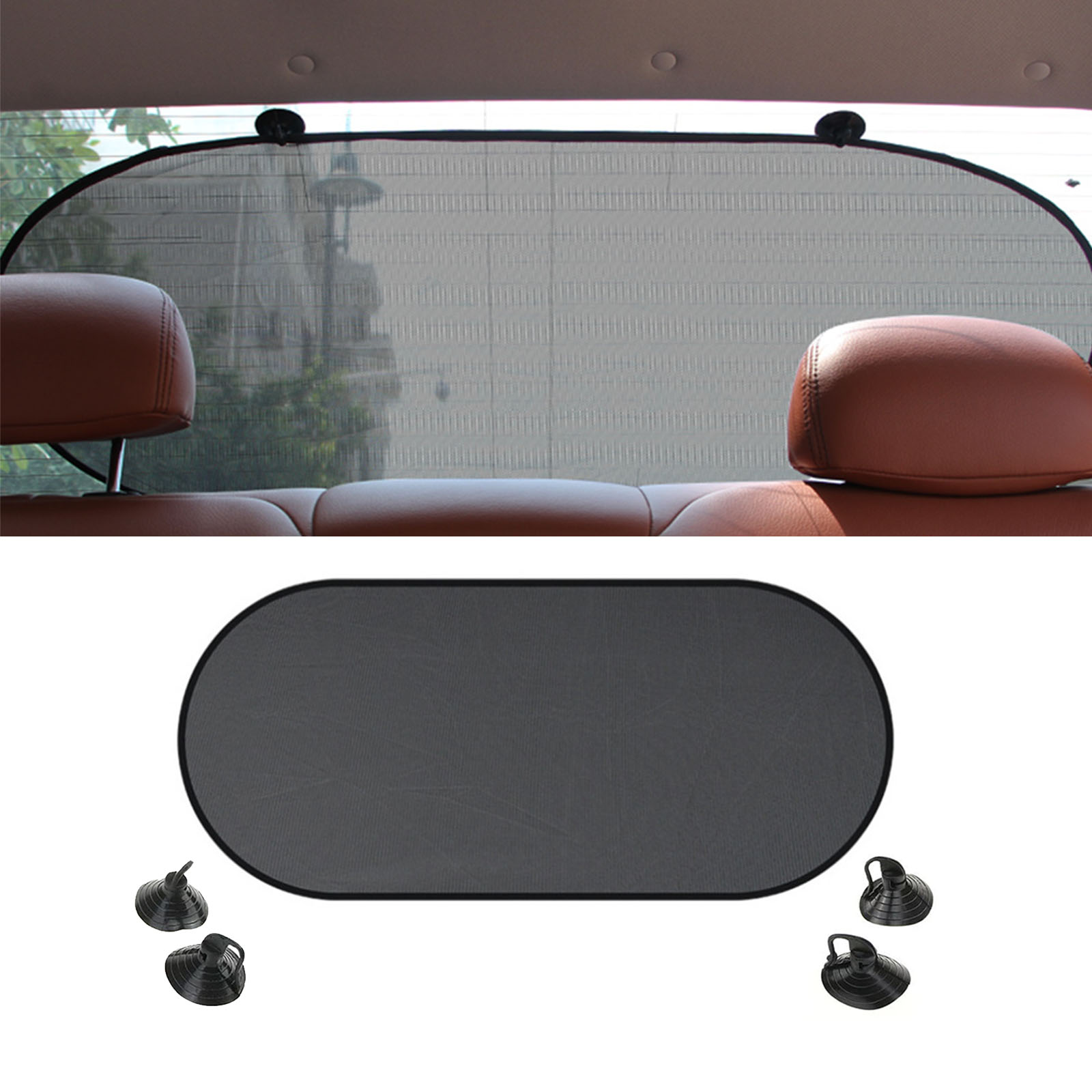 2 x Car Window Sun Shade Children Protector Roller Blind Screen Suction Fixings