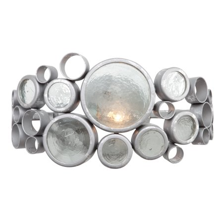 Varaluz - Fascination - 1 Light Vanity - Nevada Finish with Clear Recycled Bottle Glass ()