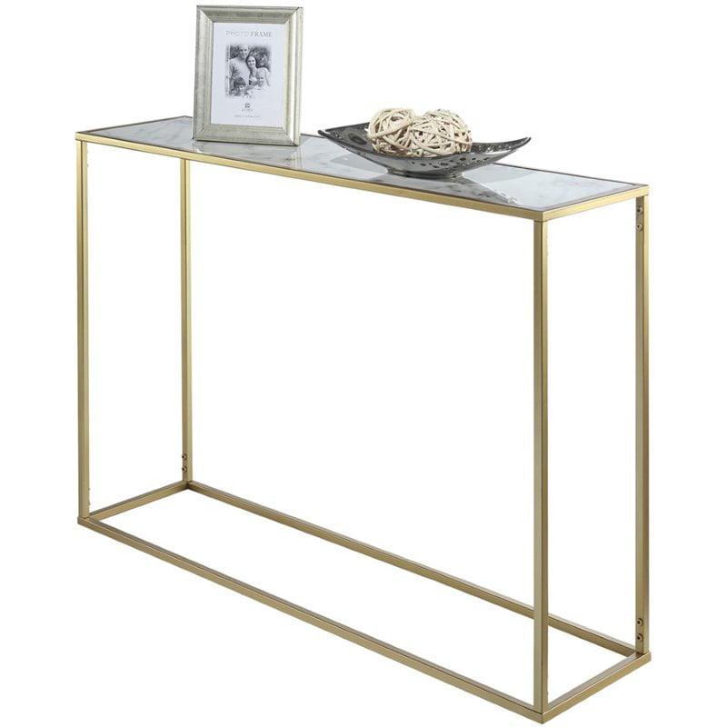 Convenience Concepts Gold Coast Faux Marble Console Table Walmart Com