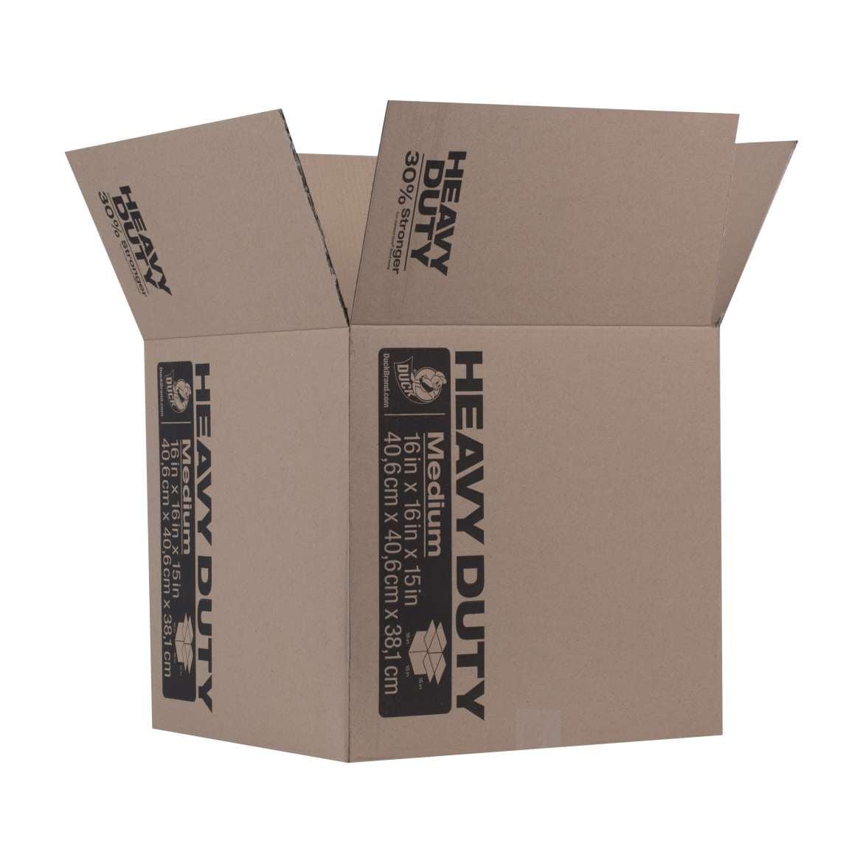 Duck Brand Heavy Duty Kraft Box - Brown, 16 in. X 16 in. x 15 in.