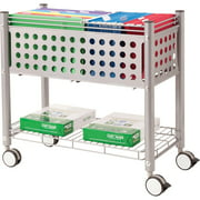 Vertiflex Open Top Rolling File Cart, Gray