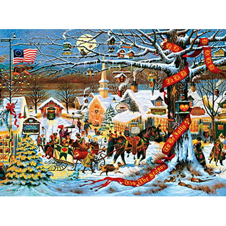 Buffalo Games Charles Wysocki Small Town Christmas 1000 Pieces Jigsaw Puzzle