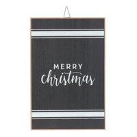 "Holiday Time Merry Christmas Hanging Sign Decoration, 18"" x 12"""