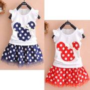 0-4Year Baby Kid Girls Children Princess Dress Clothes Cartoon Party Skirt Mini Dress