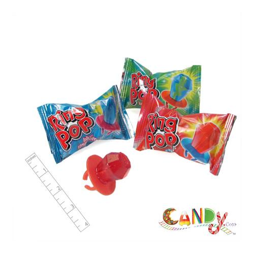 Nostalgic Candy Ring Pops individually wrapped to ensure freshness.