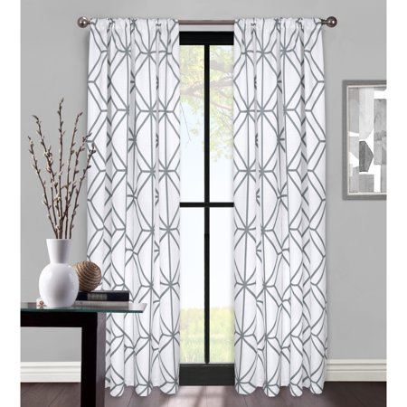 - Better Homes & Gardens Rattan Lattice Window Curtain Panel