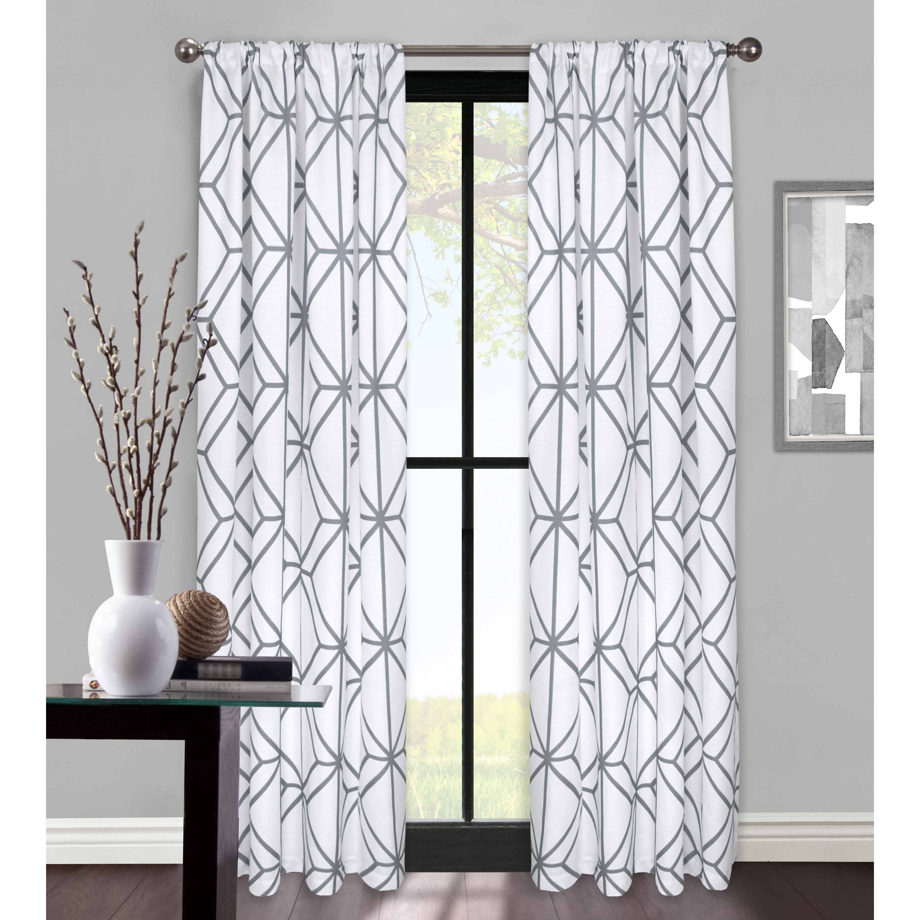 Better Homes & Gardens Rattan Lattice Window Curtain Panel