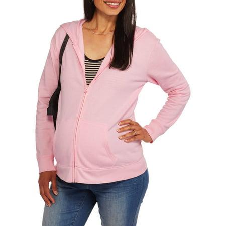 21412dfe555d5 Faded Glory - Maternity Fleece Zip Up Hoodie Sweatshirt - Walmart.com