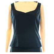 Bob Mackie NEW Black Women's Size 10 Beaded-Trim V-Neck Solid Blouse
