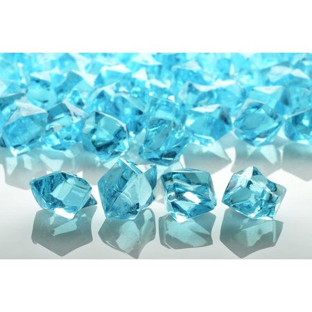 Quasimoon Water Blue Colored Gemstones Acrylic Crystal Wedding Table Confetti Vase Filler (3/4 lb Bag) by PaperLanternStore