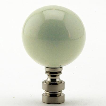 Ceramic Sage Green Ball Nickel Base Finial - 225 Sage