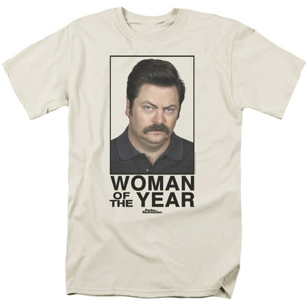 Parks And Rec Woman Of The Year Officially Licensed Adult T Shirt