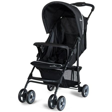Costway Foldable Lightweight Baby Stroller Kids Travel Pushchair 5-Point Safety (Best Pushchair Travel System)