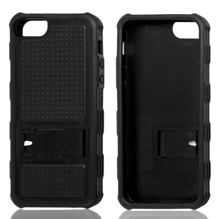 Black Nonslip Plastic Back Case Cover for Apple iPhone 5 5G - image 1 de 1