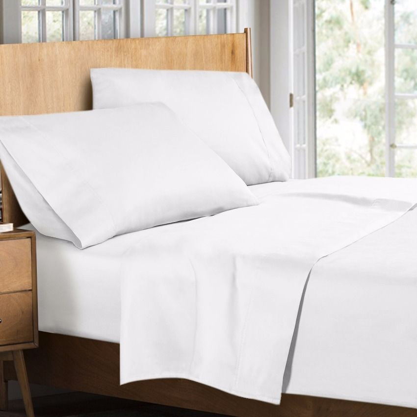 400 thread count 100 egyptian cotton 4 piece bed sheet set king size white