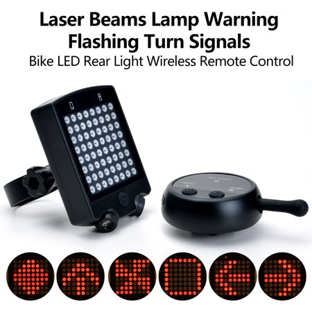 Rechargeable Bike Rear Tail Light Bicycle Turn Signals Safety Warning 64 LED Light