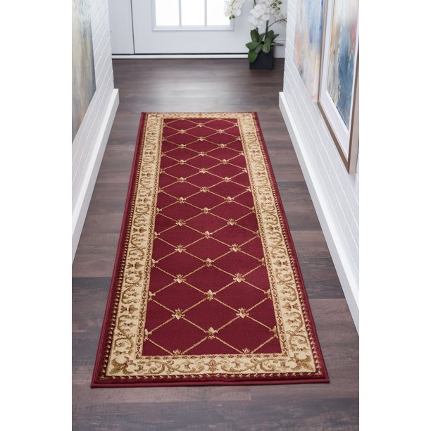 Bliss Rugs Olivet Traditional Indoor Runner Rug Walmart Com Walmart Com