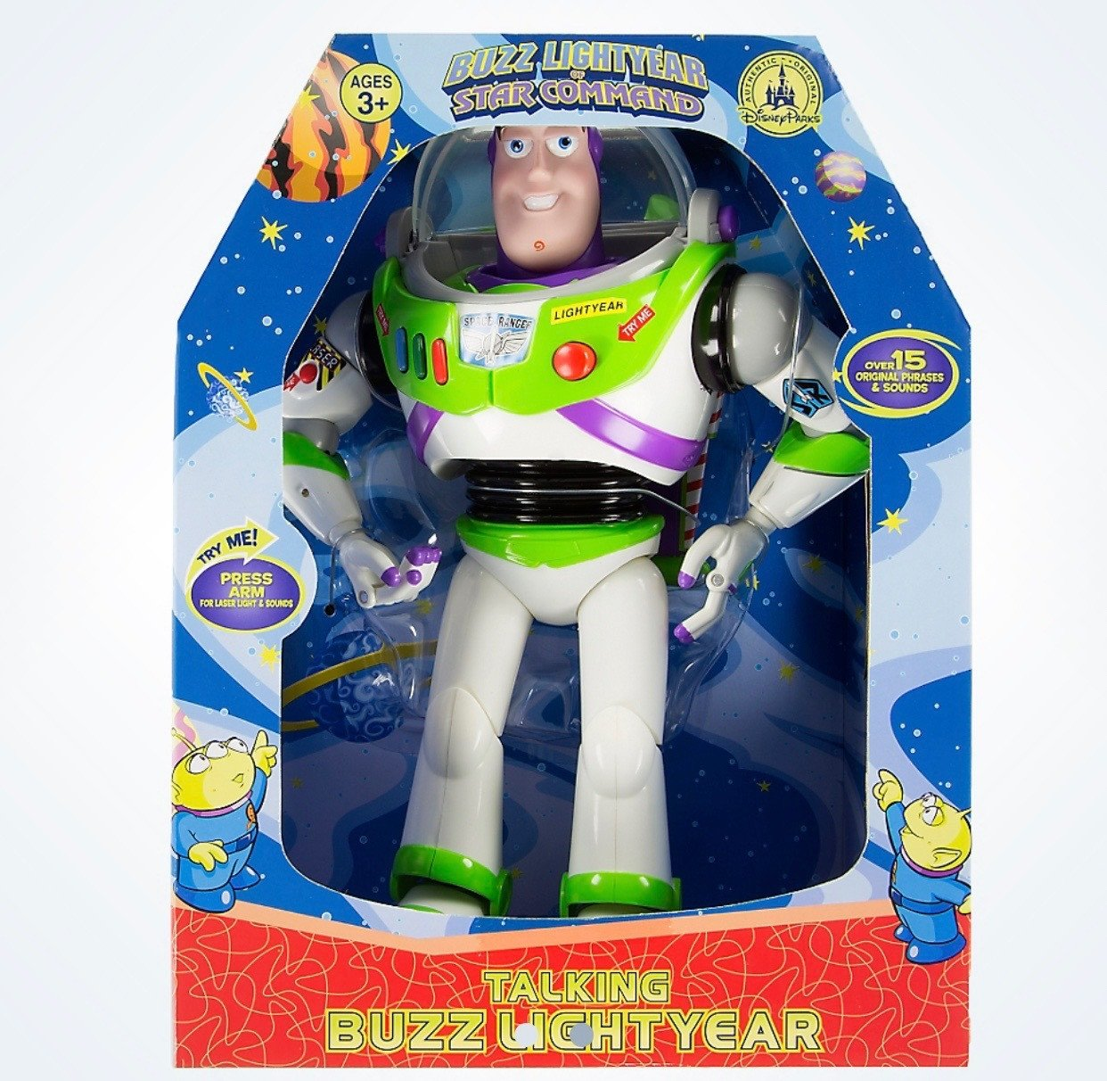 "Disney Parks Toy Story Buzz Lightyear 12"" Talking 15 Phrases Figure New with Box by"