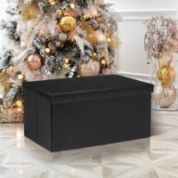 Deals on Otto & Ben 30 Inch Memory Foam Folding Storage Ottoman Bench