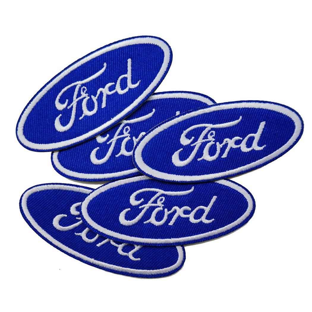 5 Pieces, 2.8 Inches Ford Embroidered Iron on Patch