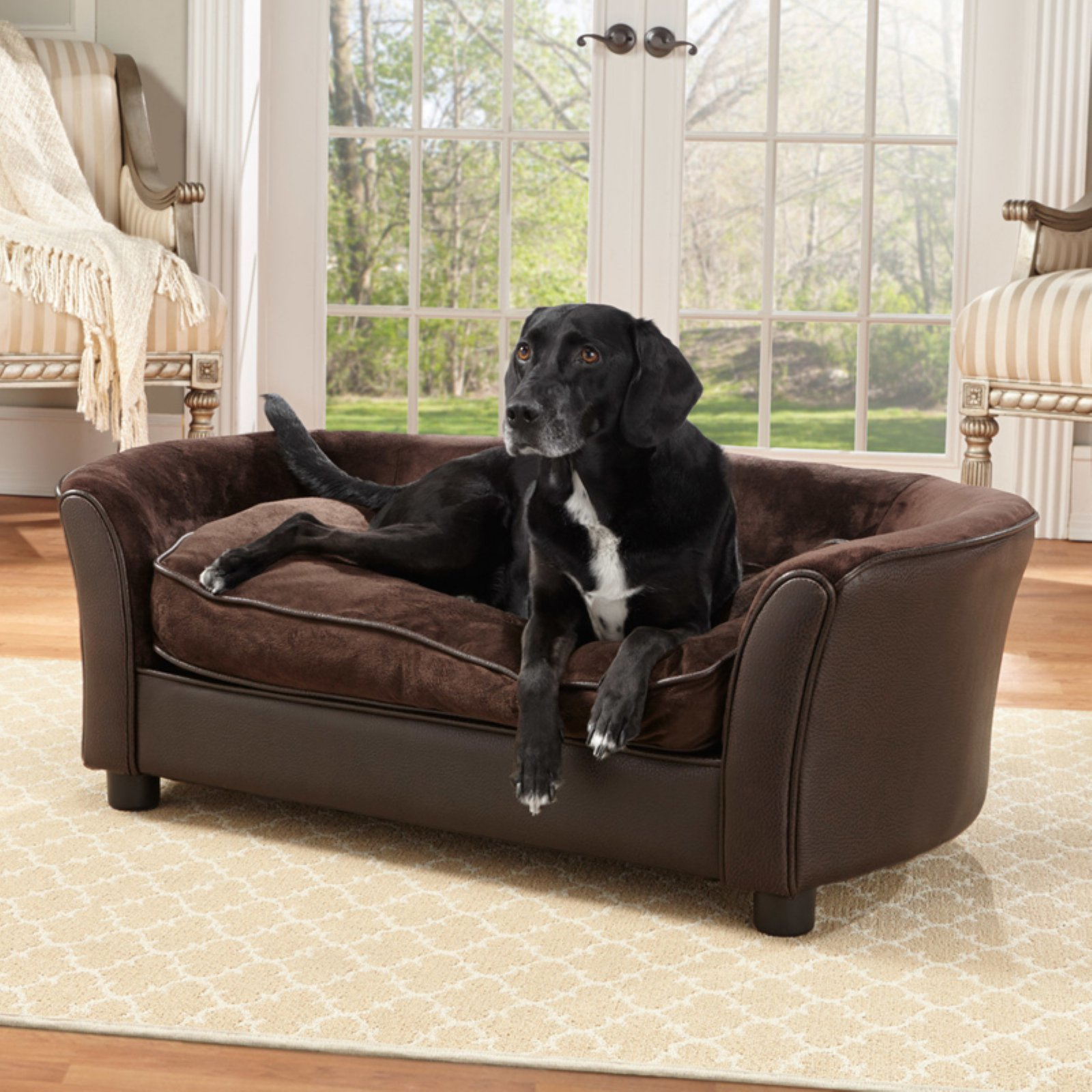 Superieur Enchanted Home Pet Panache Dog Sofa, Medium, Brown