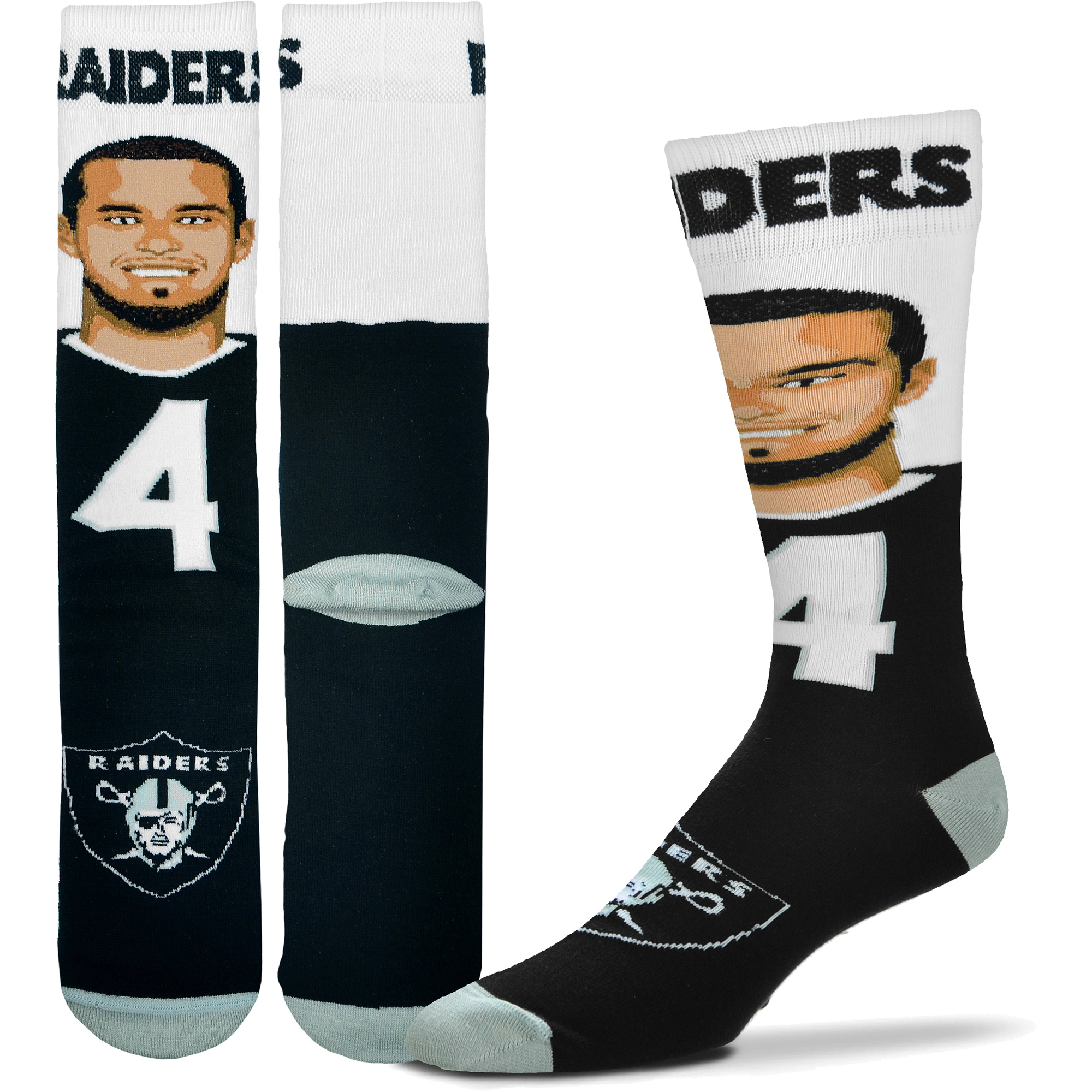 Derek Carr Oakland Raiders For Bare Feet Youth Selfie Socks - No Size