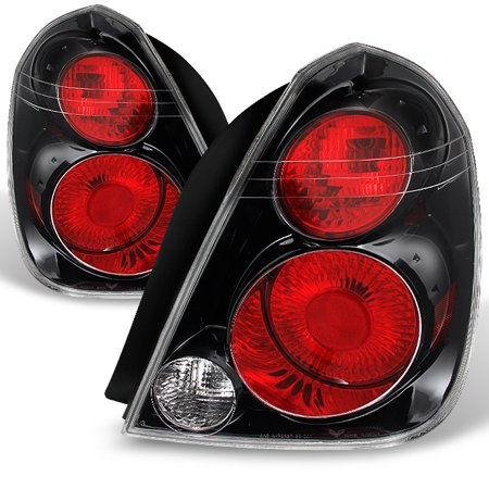 Fits 02-06 Altima SE-R Style *Hyper Black* Tail Lights Brake Lamps Replacement - Tail Light Bezel Set