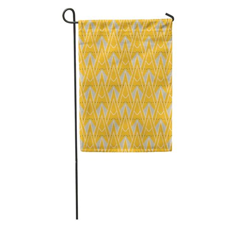 LADDKE 1930S Geometric Pattern in Mustard Yellow Colors Vintage of History Garden Flag Decorative Flag House Banner 28x40 inch