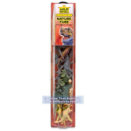 Wild Republic - Tube of Figurines & Play-mat - Dinosaurs