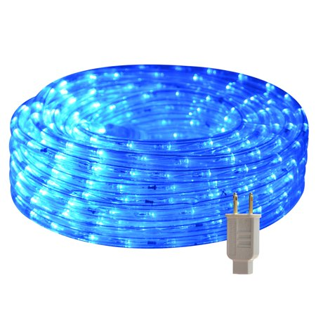 HEI LIANG LED Rope Lights, 120V Waterproof LED String Lights for Patio, Backyard, Garden, Wedding, Christmas Party, Indoor and Outdoor Decoration (50FT/15M, Blue)](Backyard Party Lights)